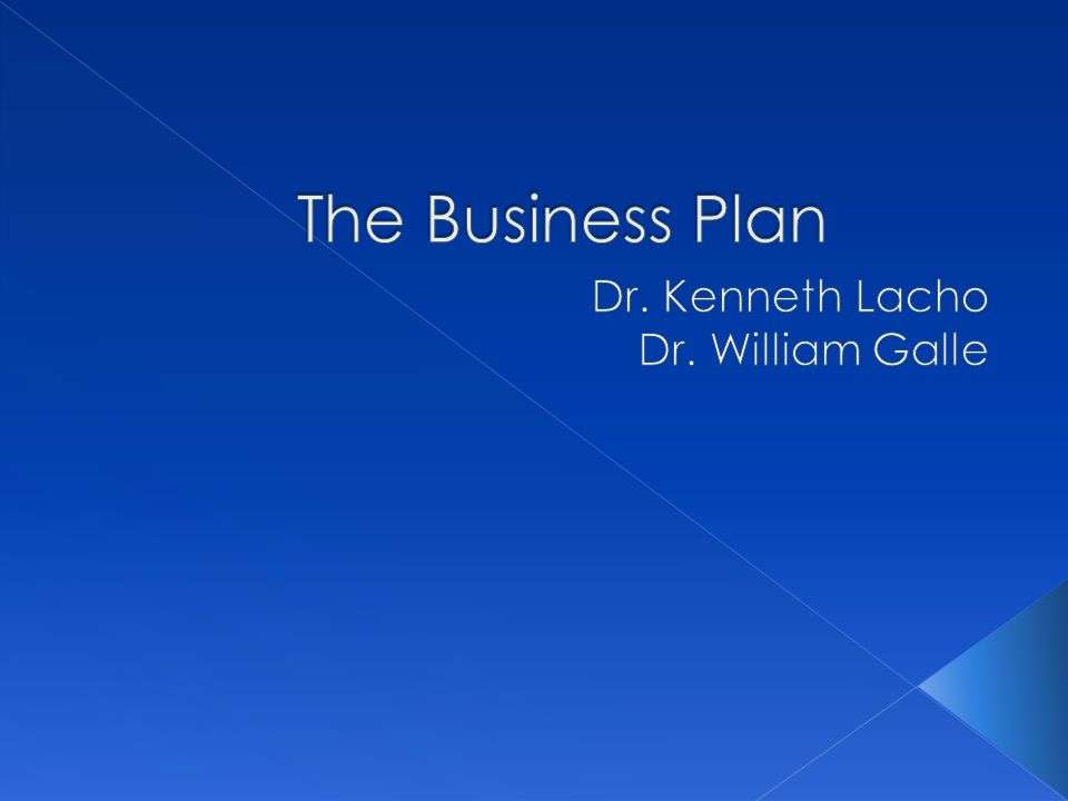 Dr. Kenneth Lacho Dr. William Galle