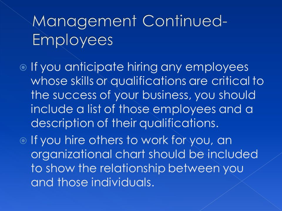Management Continued-Employees