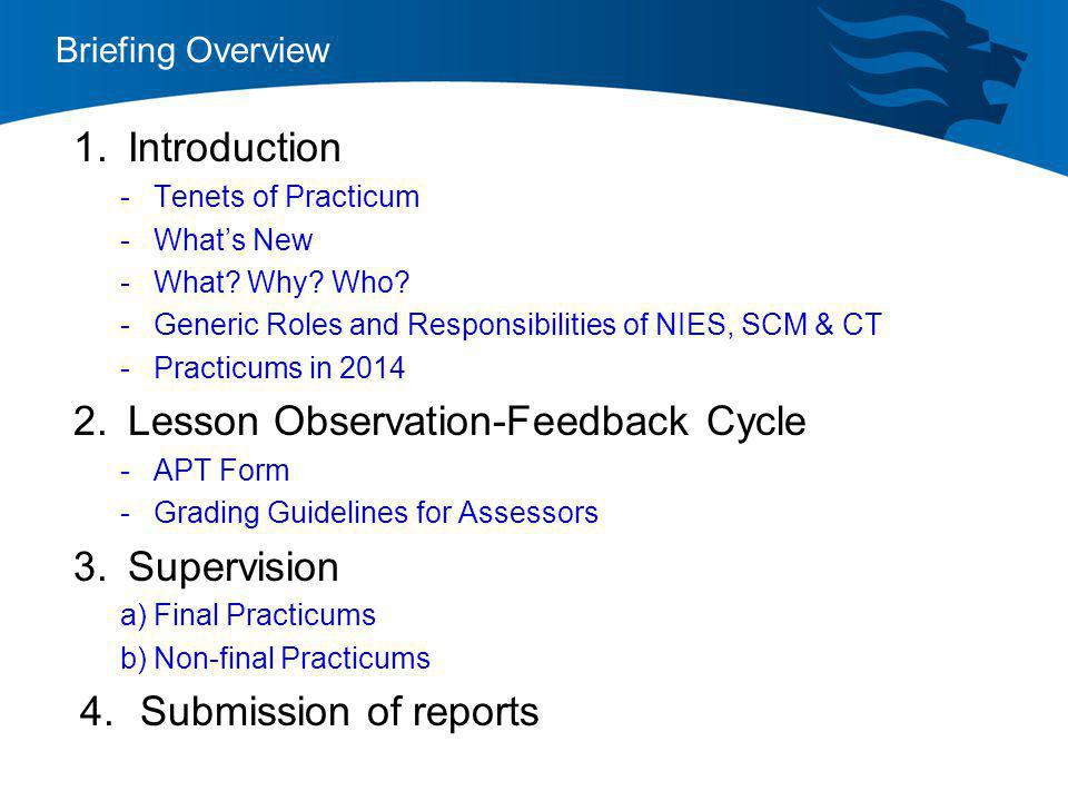 Lesson Observation-Feedback Cycle