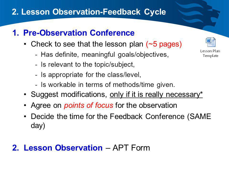 pre observation The marshall's system of teacher observation and evaluation are being implemented although marshall's system does not call for pre-observations, i will use the conference to have a conversation with the teacher about system, the purpose behind it, what to expect, and answer any questions or.