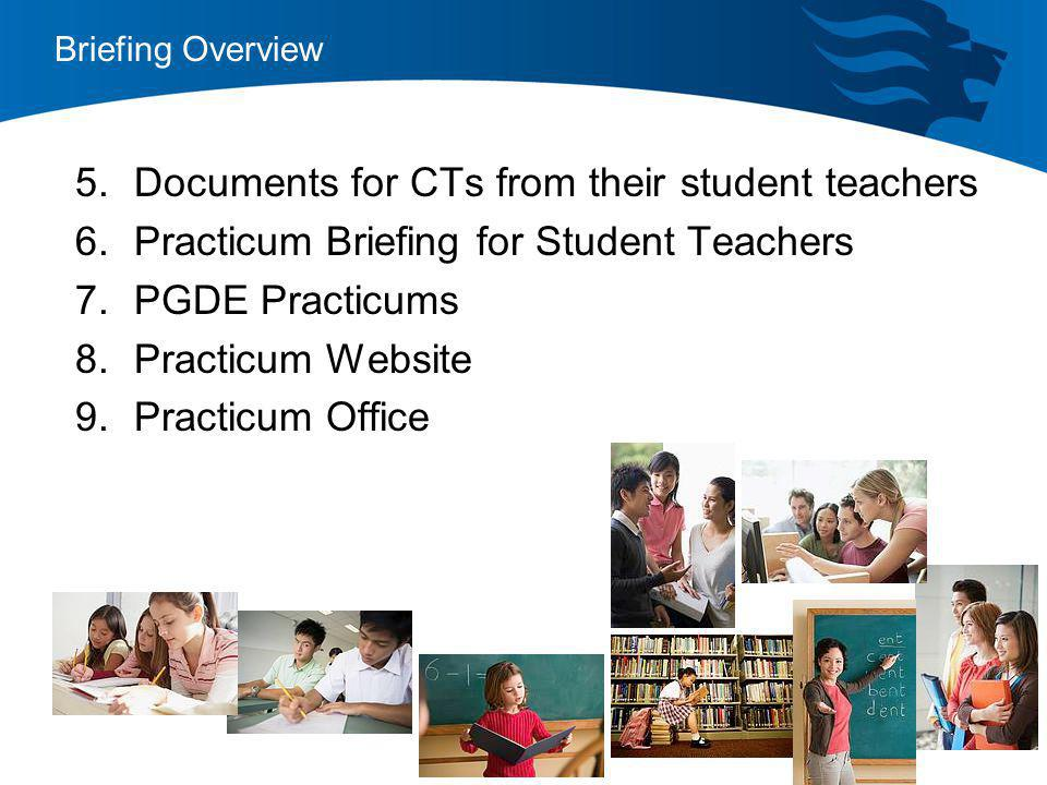 Documents for CTs from their student teachers