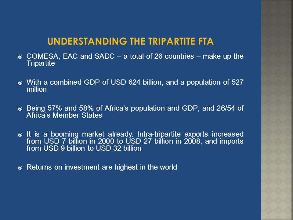 Understanding the TRIPARTITE FTA