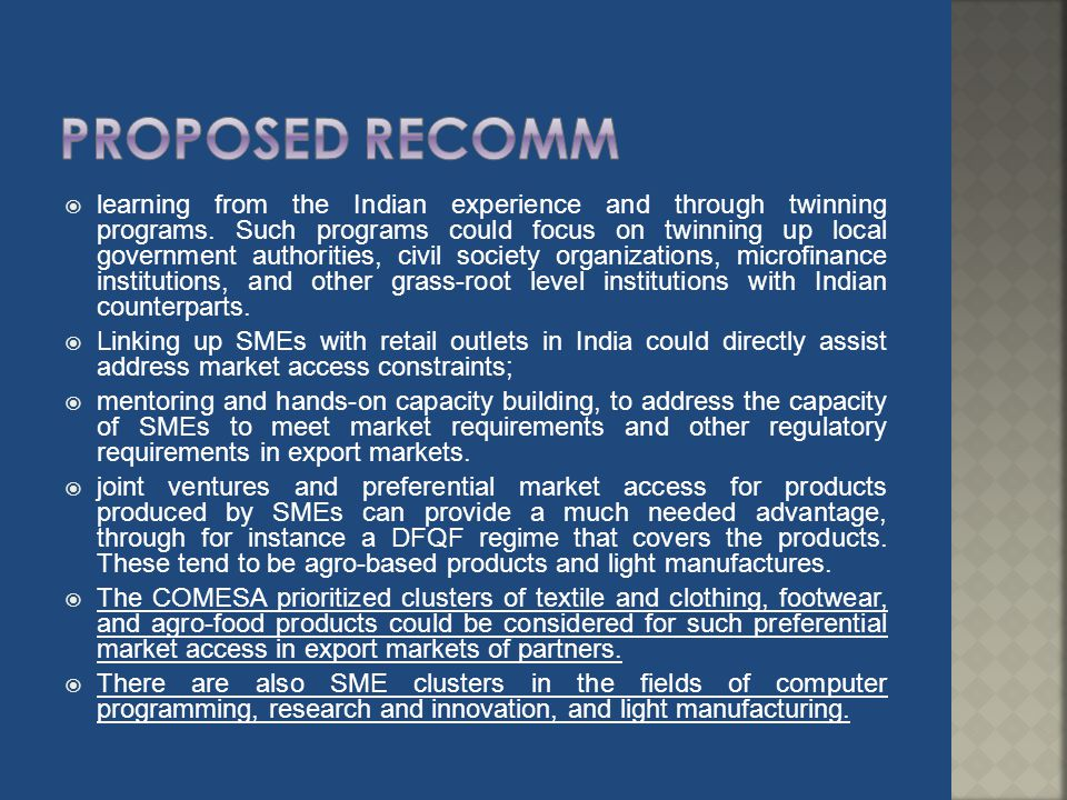 Proposed recomm