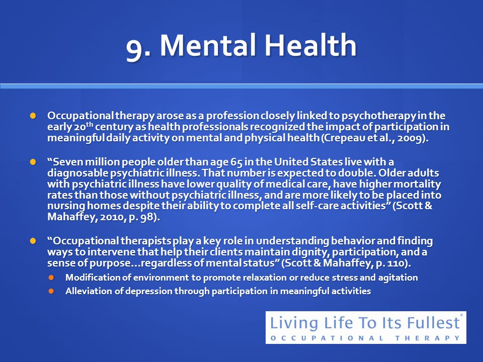 9. Mental Health