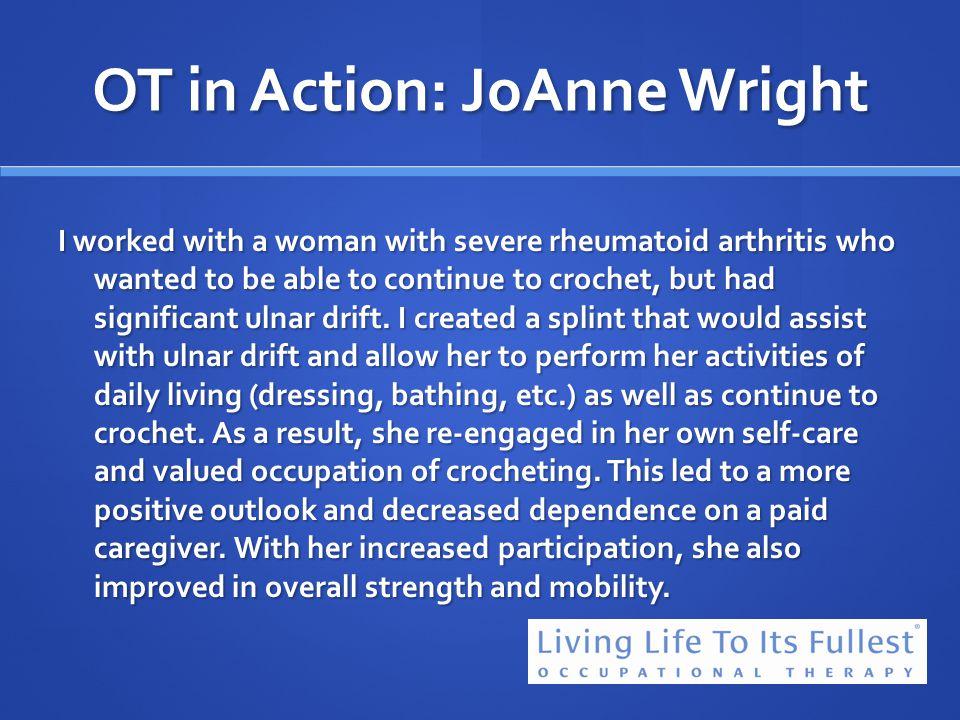 OT in Action: JoAnne Wright