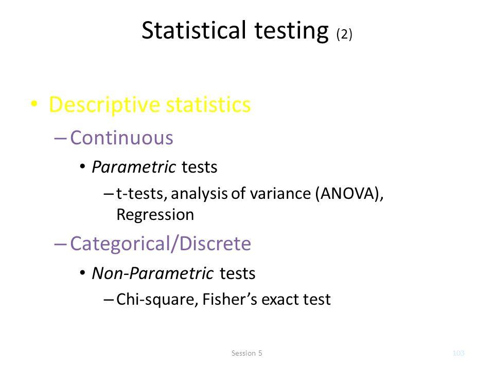 Statistical testing (2)