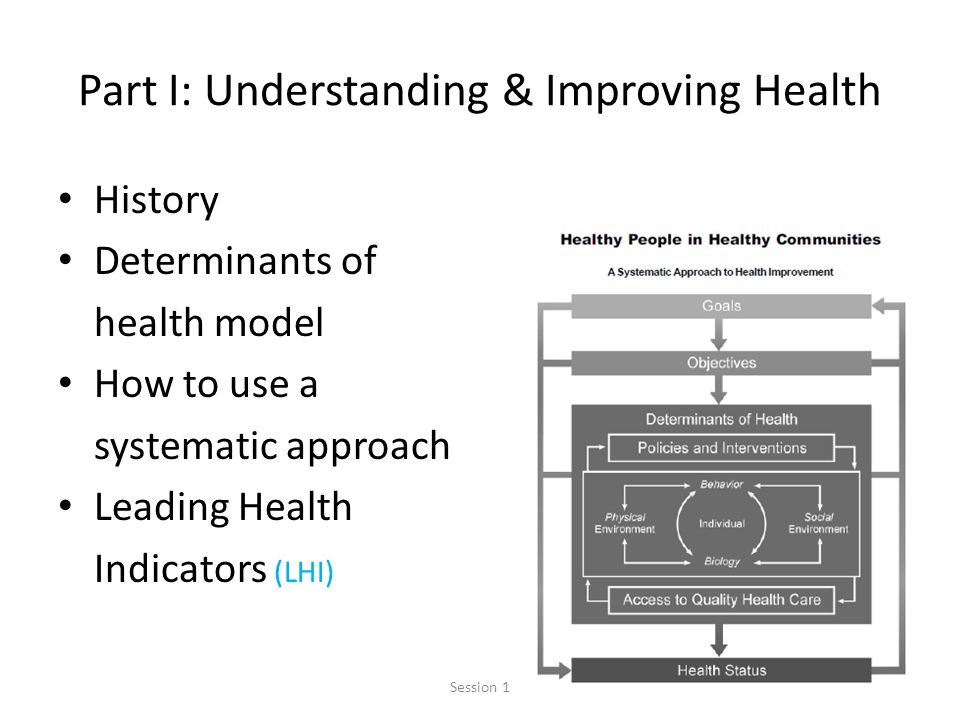 Part I: Understanding & Improving Health