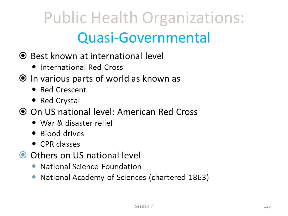 Public Health Organizations: Quasi-Governmental