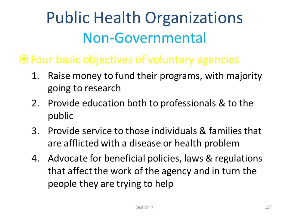 Public Health Organizations Non-Governmental