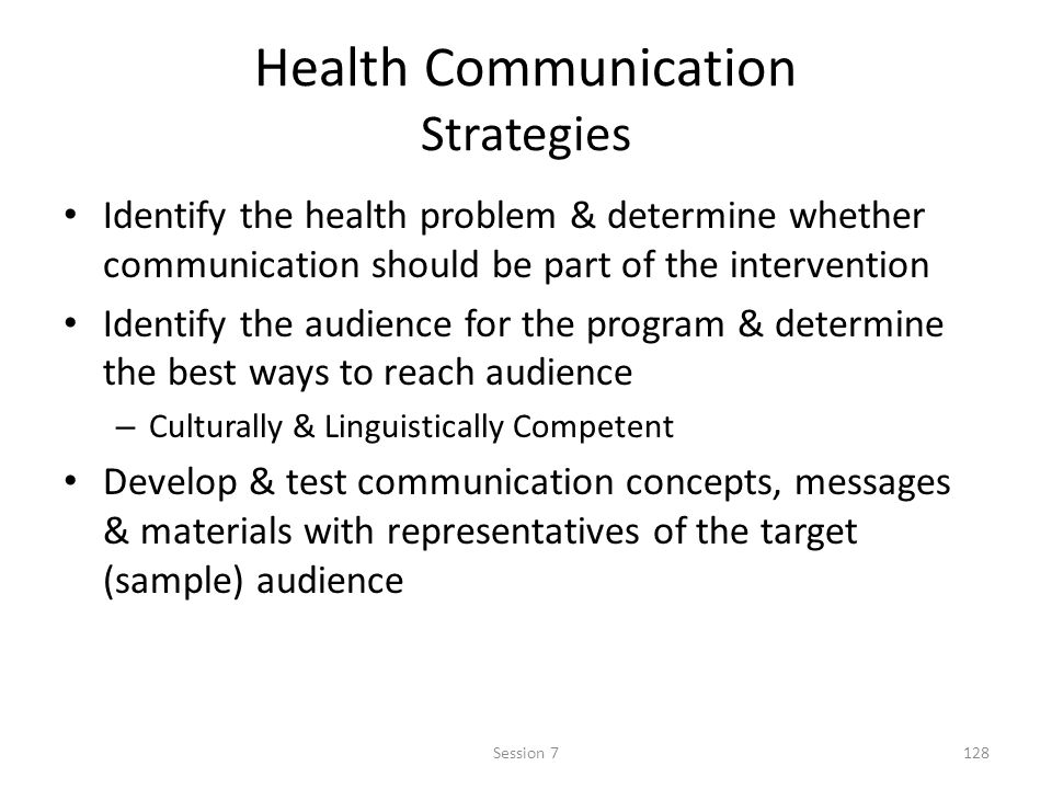 Health Communication Strategies