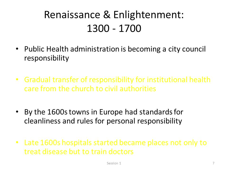 Renaissance & Enlightenment: 1300 - 1700