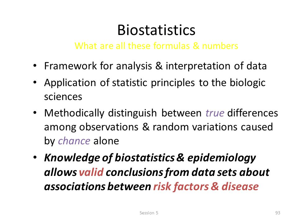 Biostatistics What are all these formulas & numbers