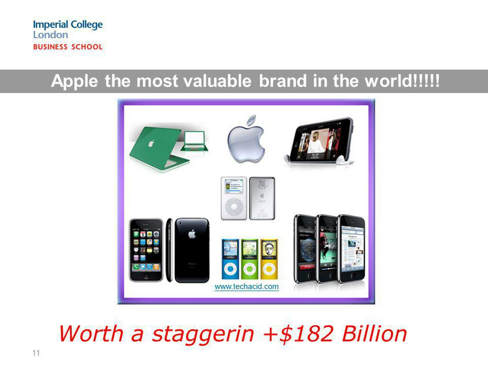 Apple the most valuable brand in the world!!!!!
