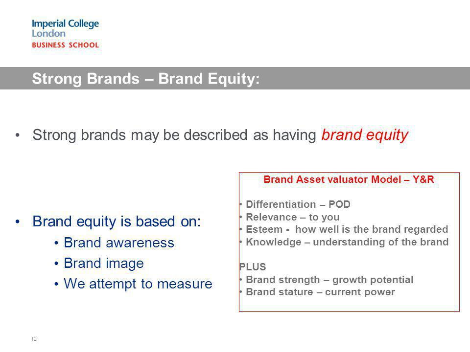 Strong Brands – Brand Equity: