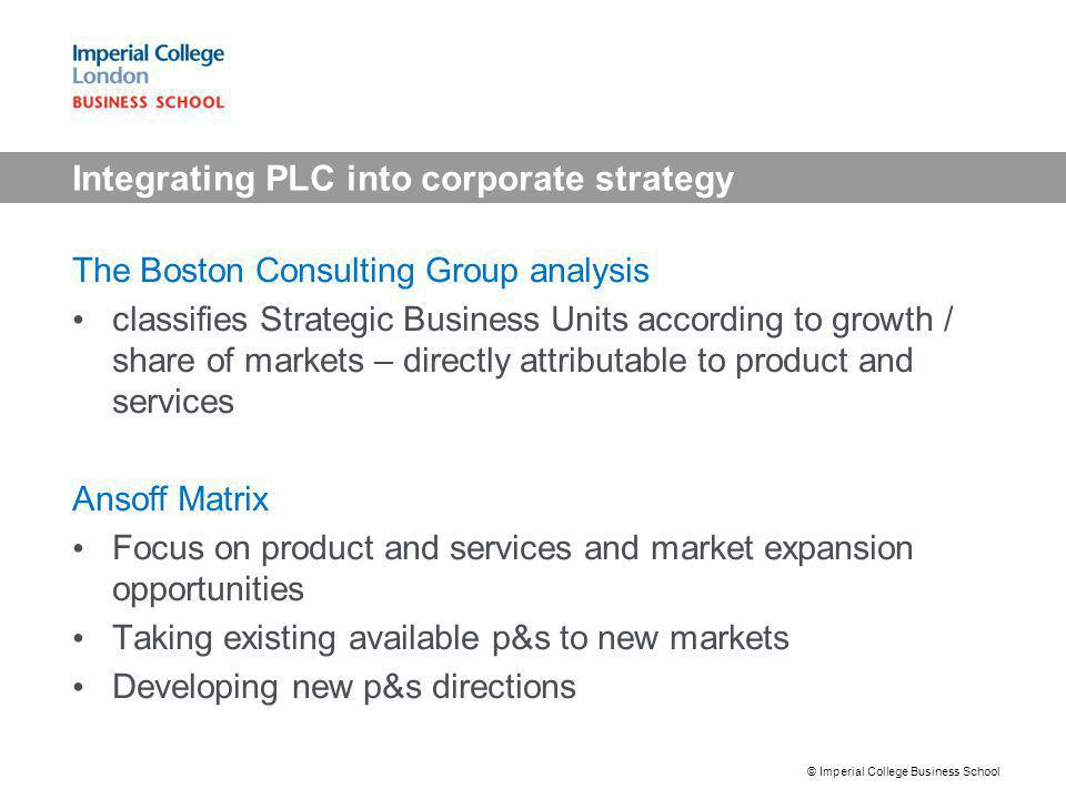 Integrating PLC into corporate strategy
