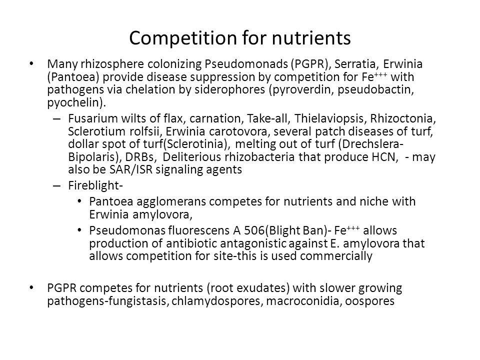 Competition for nutrients