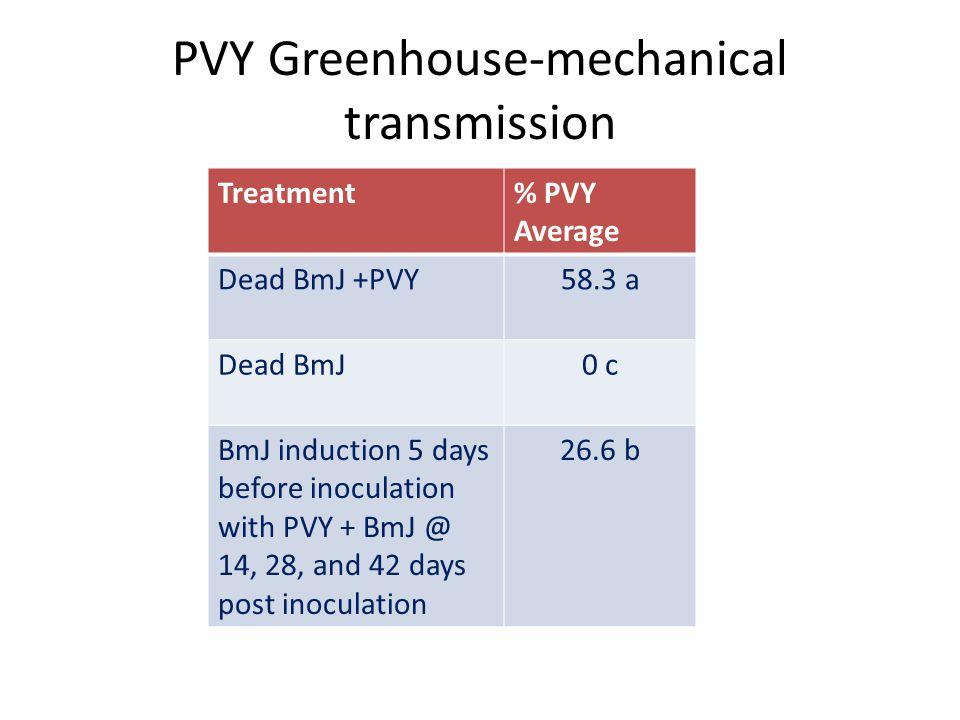 PVY Greenhouse-mechanical transmission