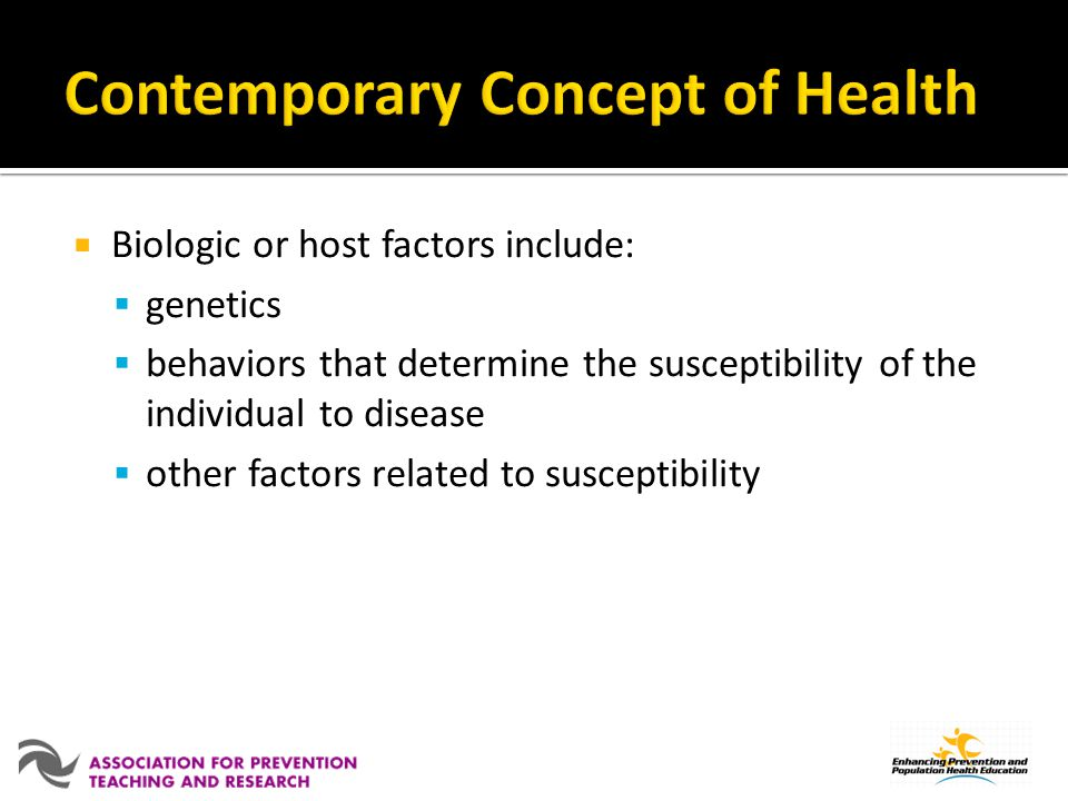 Contemporary Concept of Health