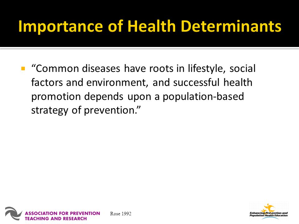 Importance of Health Determinants