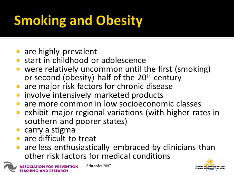Smoking and Obesity are highly prevalent