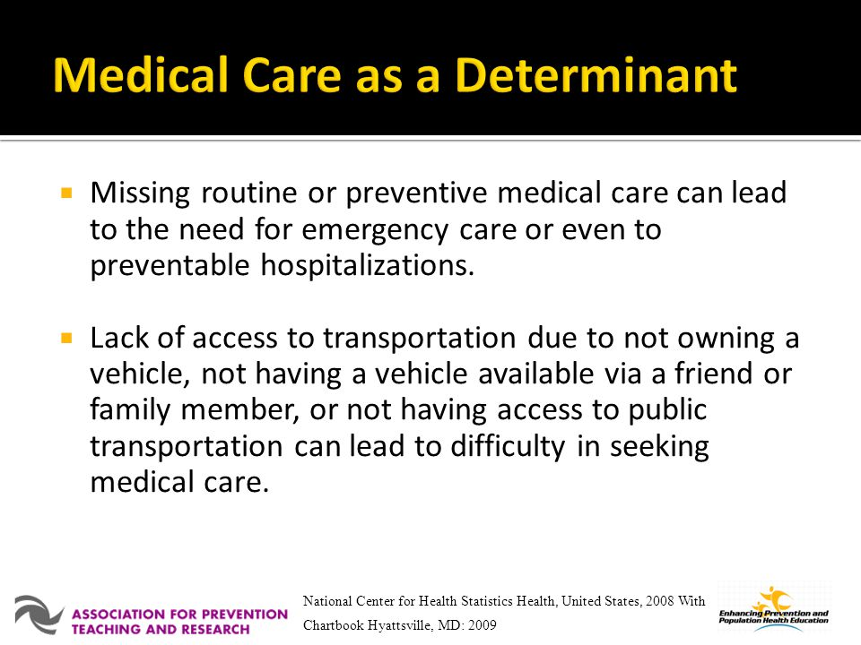 Medical Care as a Determinant