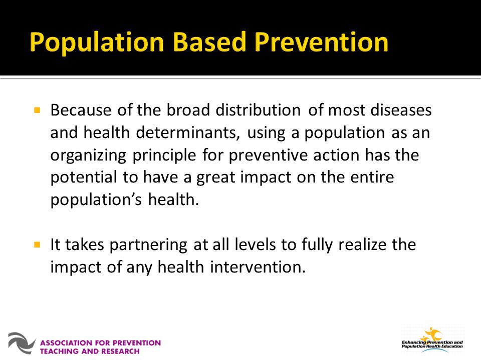 Population Based Prevention