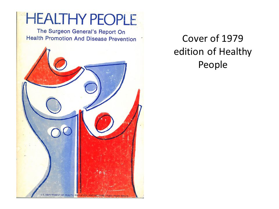 Cover of 1979 edition of Healthy People