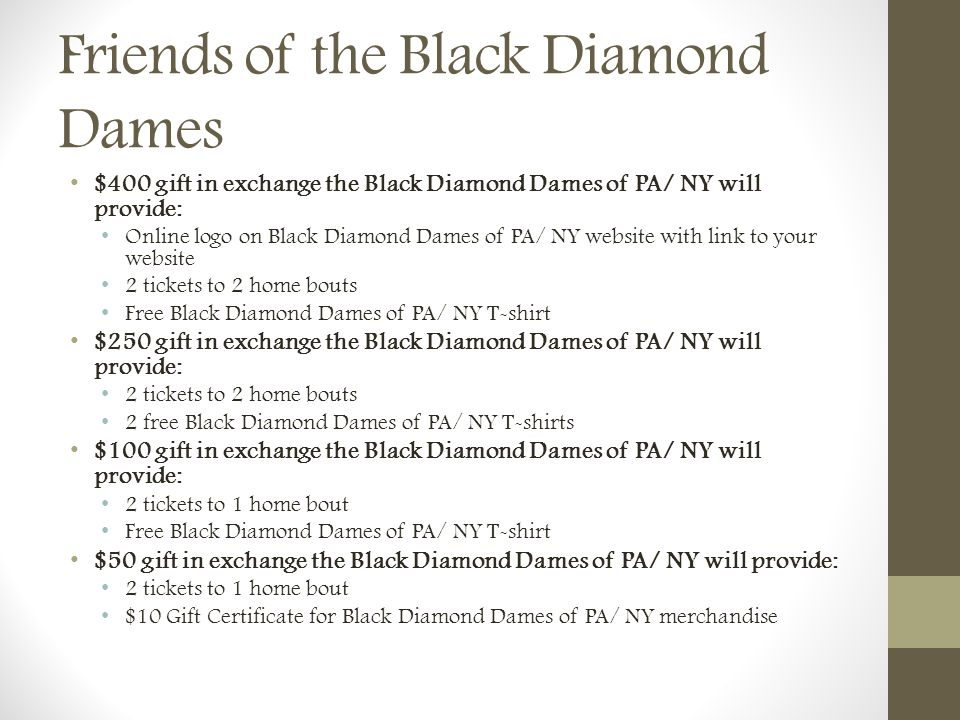 Friends of the Black Diamond Dames