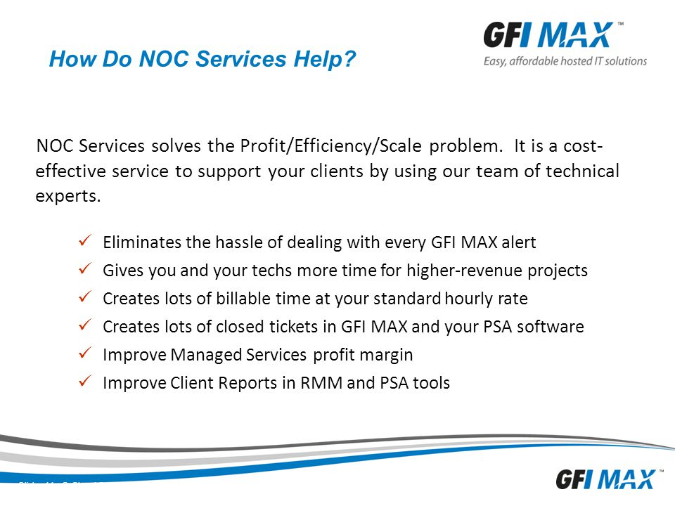 How Do NOC Services Help