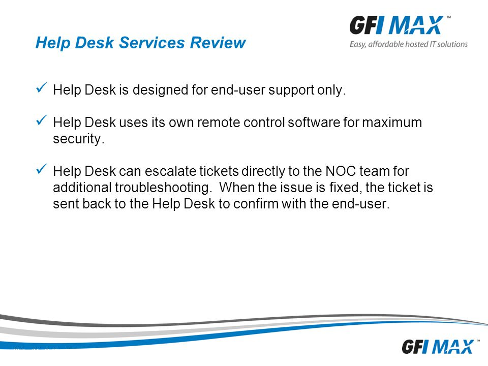 IT Help Desk Services and Help Desk Support