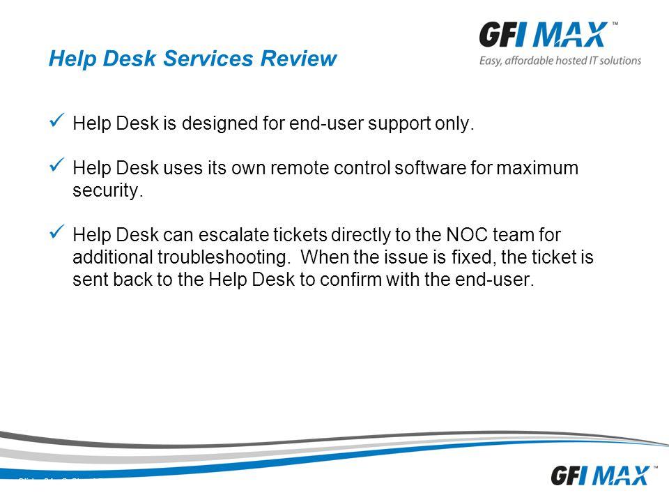 Help Desk Services Review