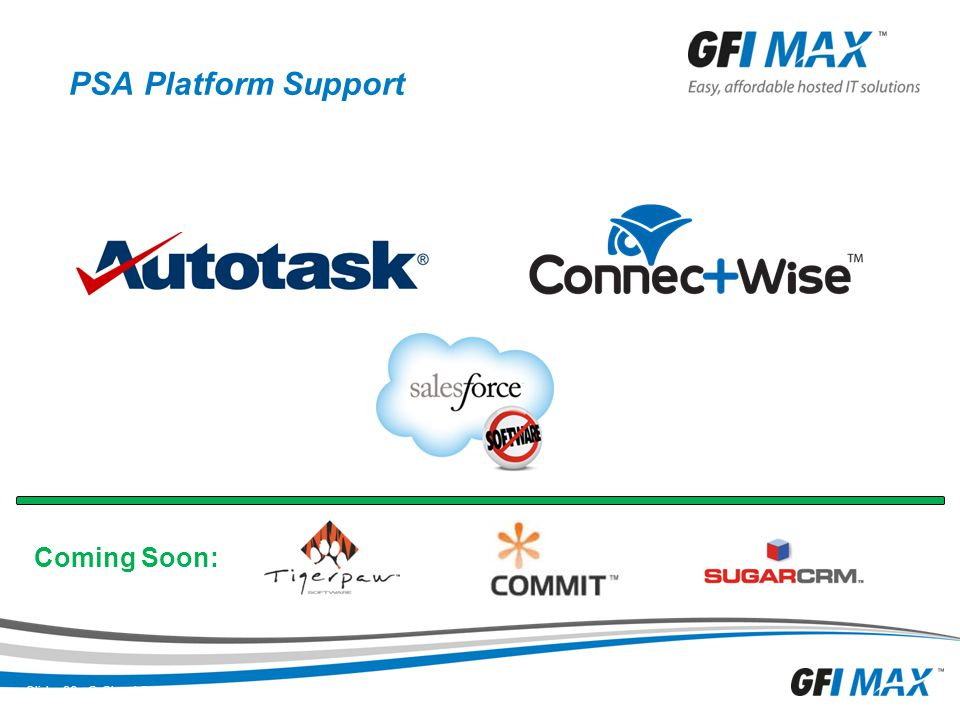 PSA Platform Support Coming Soon: