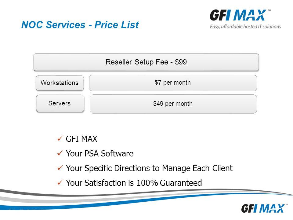 NOC Services - Price List