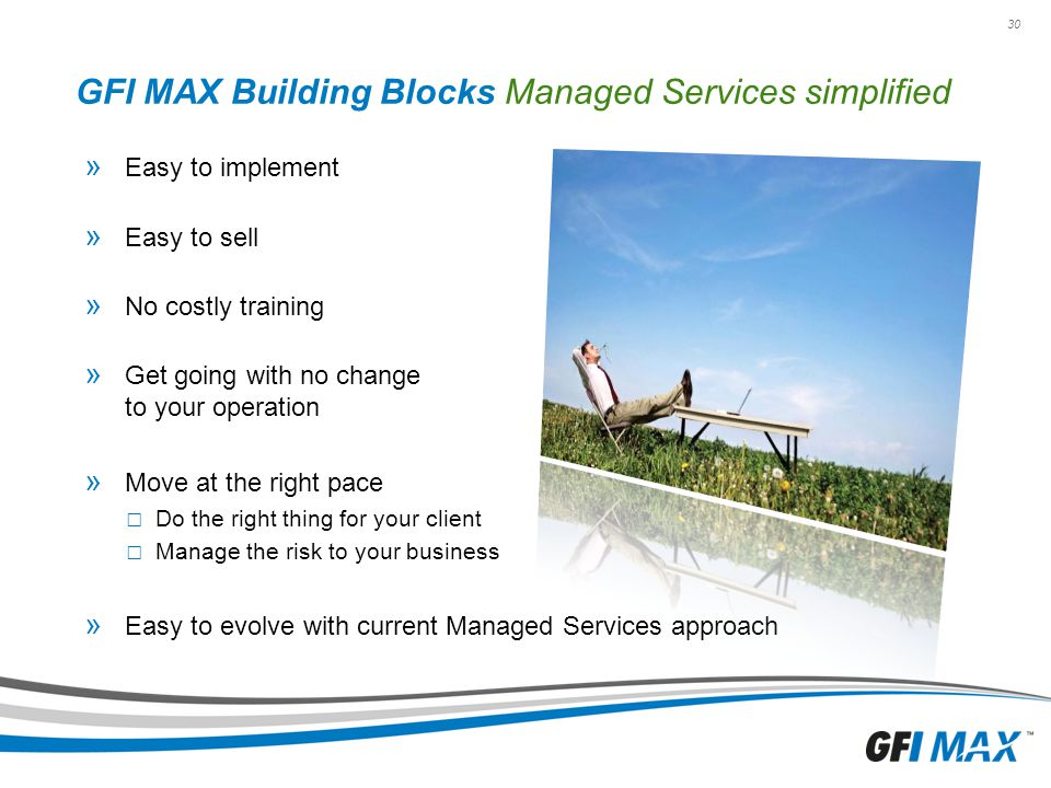 GFI MAX Building Blocks Managed Services simplified