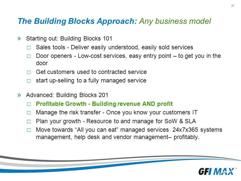 The Building Blocks Approach: Any business model