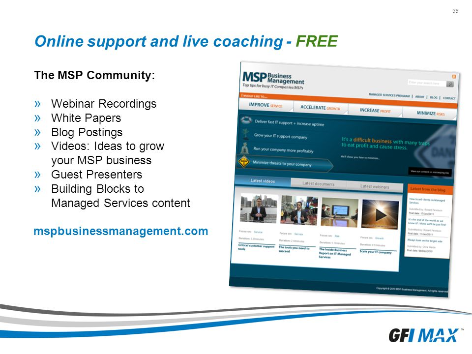 Online support and live coaching - FREE