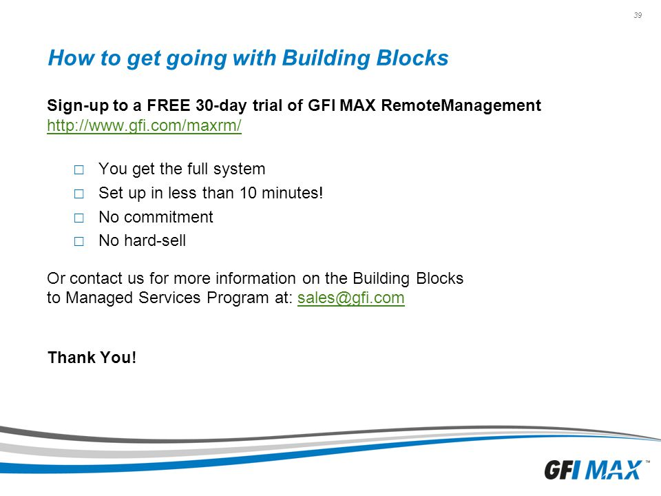How to get going with Building Blocks