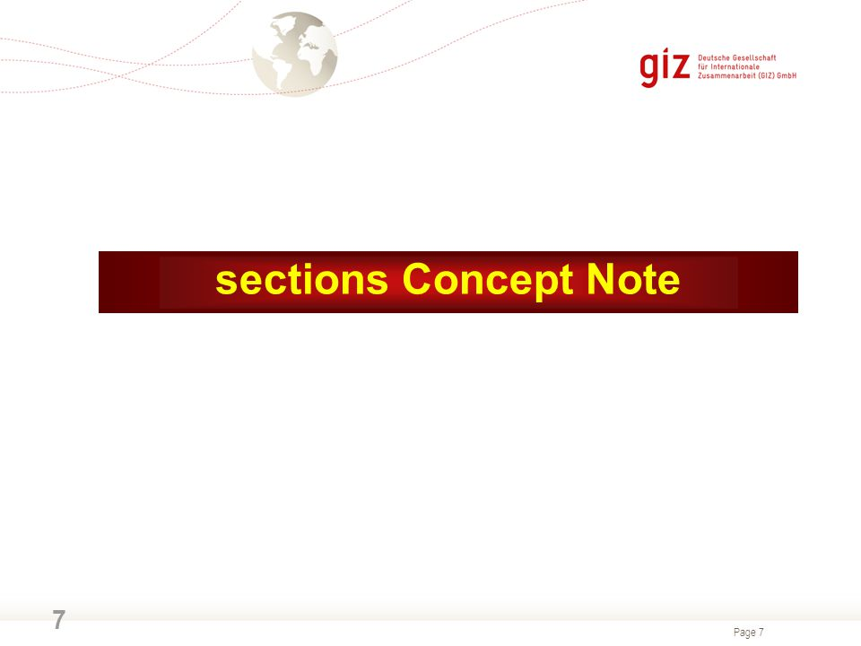 sections Concept Note