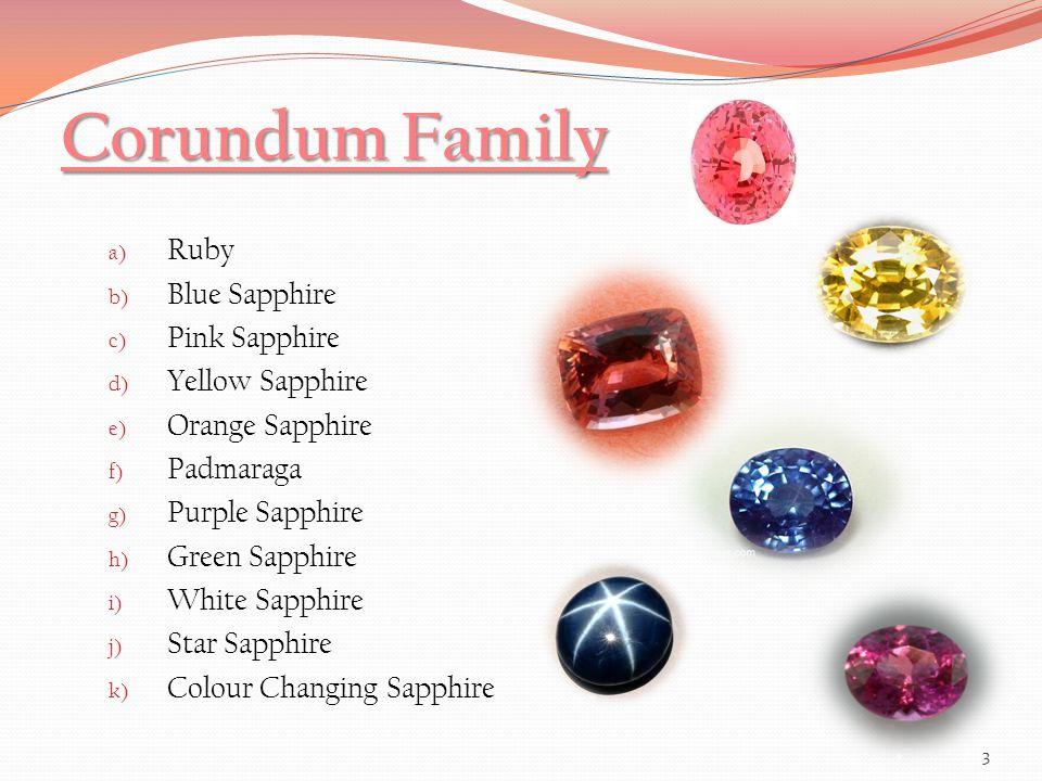 Corundum Family Ruby Blue Sapphire Pink Sapphire Yellow Sapphire