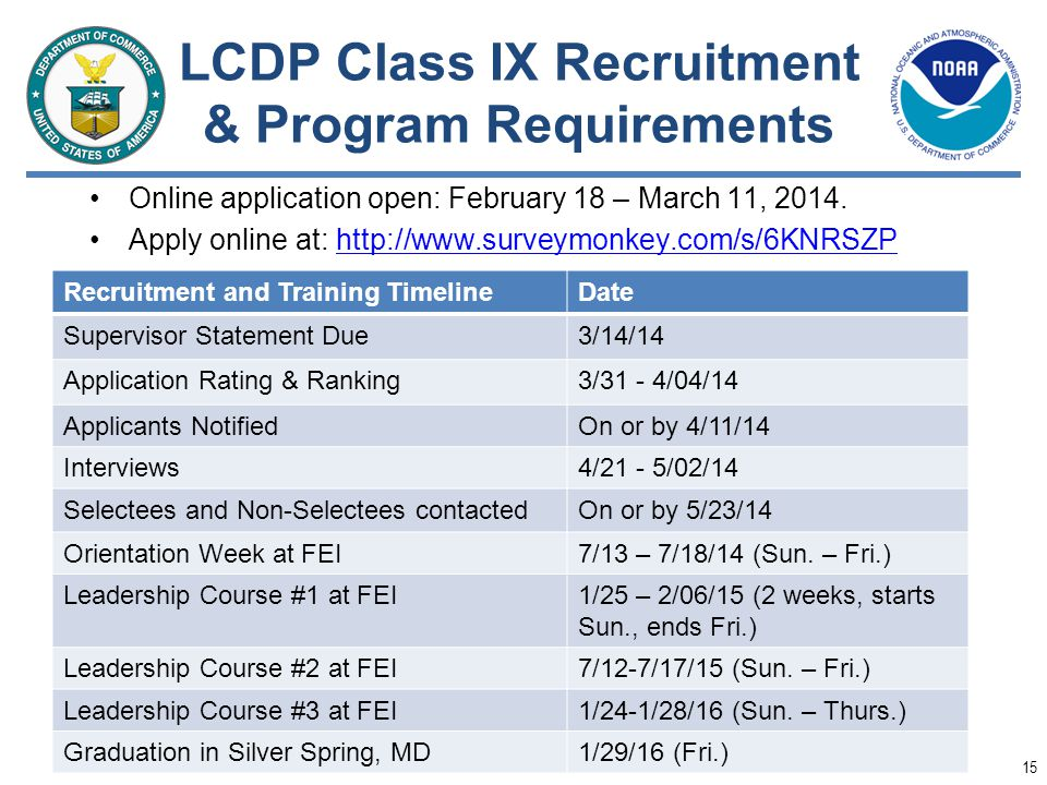 LCDP Class IX Recruitment & Program Requirements