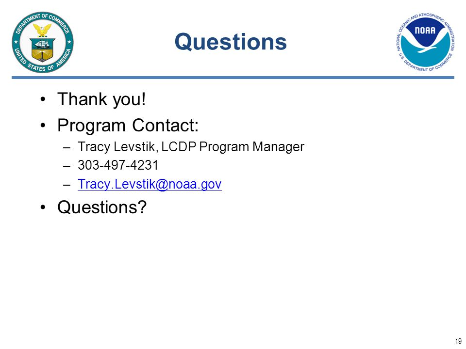 Questions Thank you! Program Contact: Questions