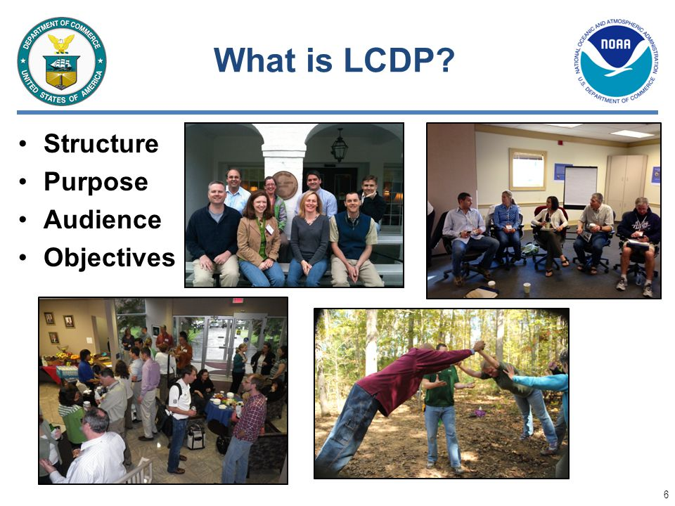 What is LCDP Structure Purpose Audience Objectives