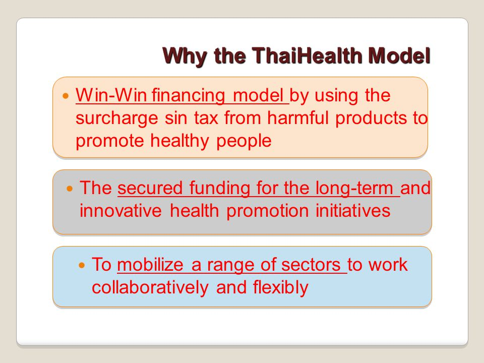 Why the ThaiHealth Model