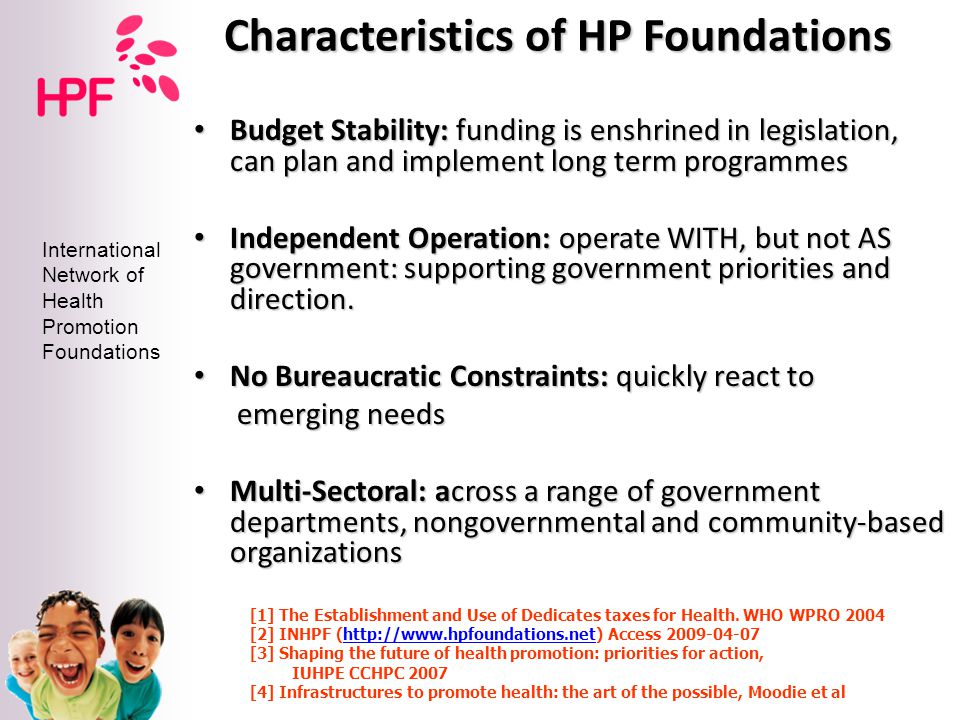 Characteristics of HP Foundations