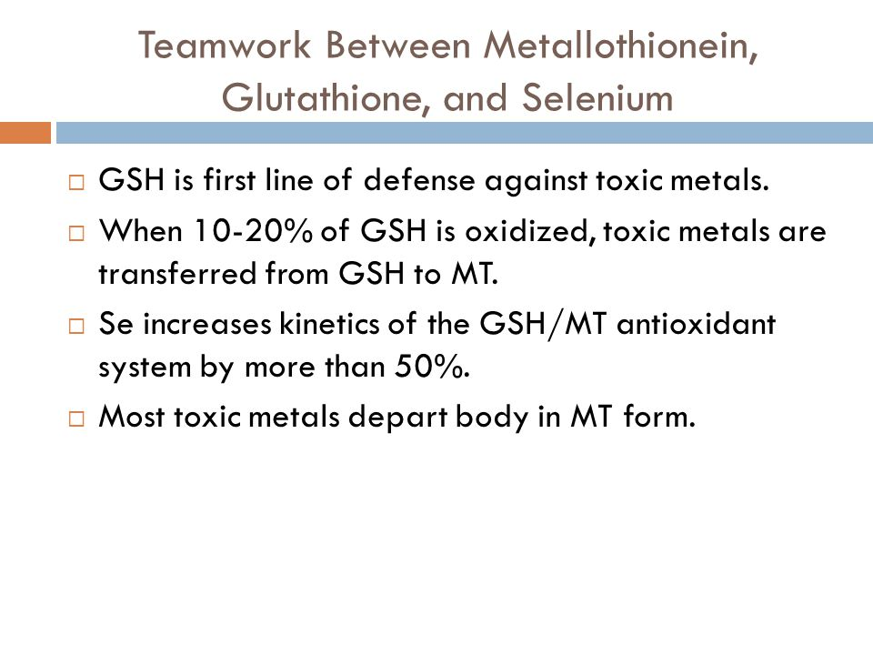 Teamwork Between Metallothionein, Glutathione, and Selenium