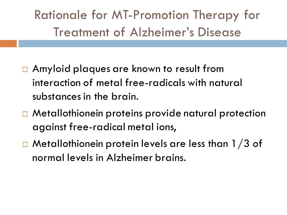 Rationale for MT-Promotion Therapy for Treatment of Alzheimer's Disease