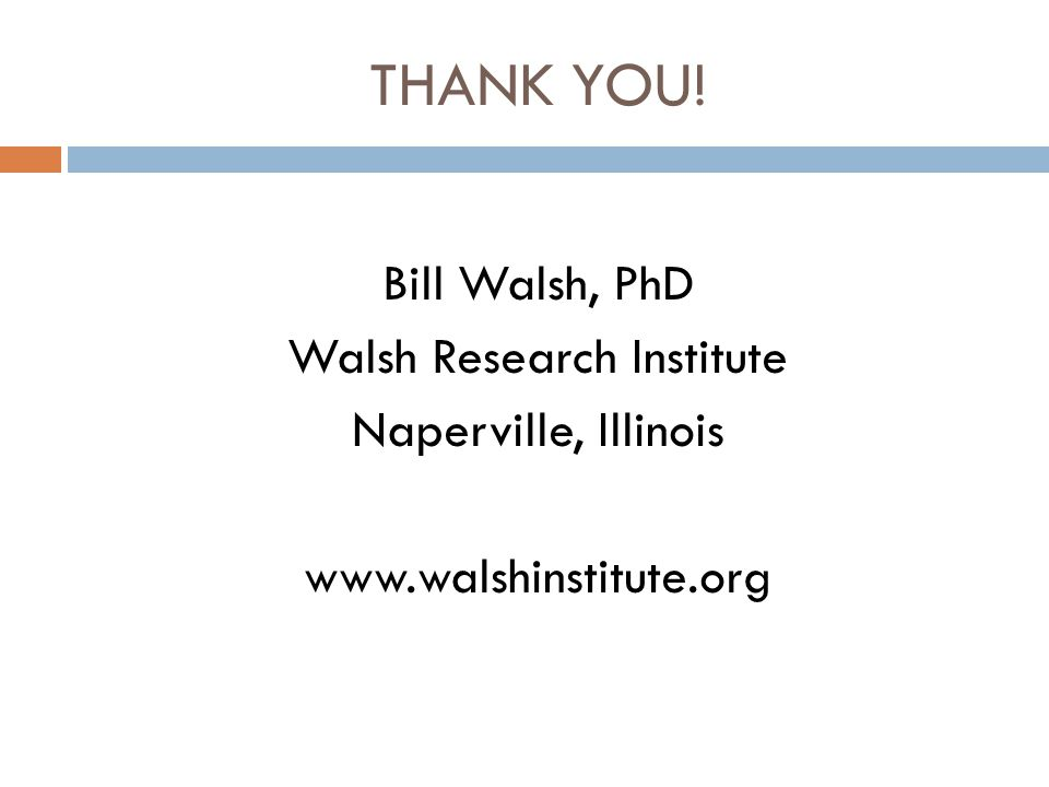 Walsh Research Institute