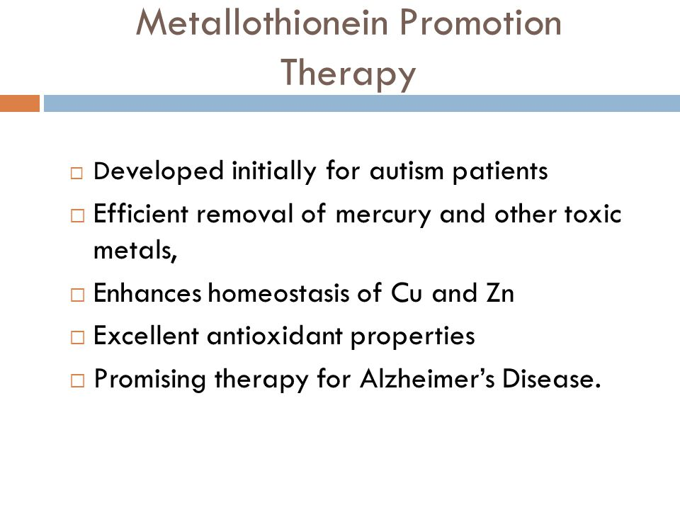 Metallothionein Promotion Therapy
