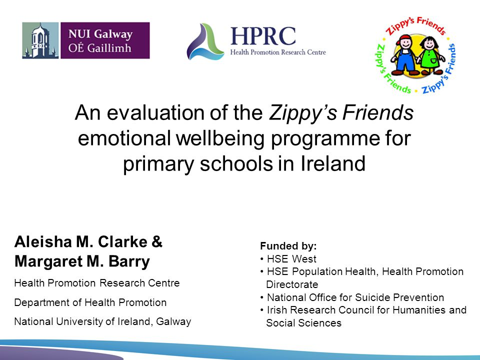 An evaluation of the Zippy's Friends emotional wellbeing programme for primary schools in Ireland