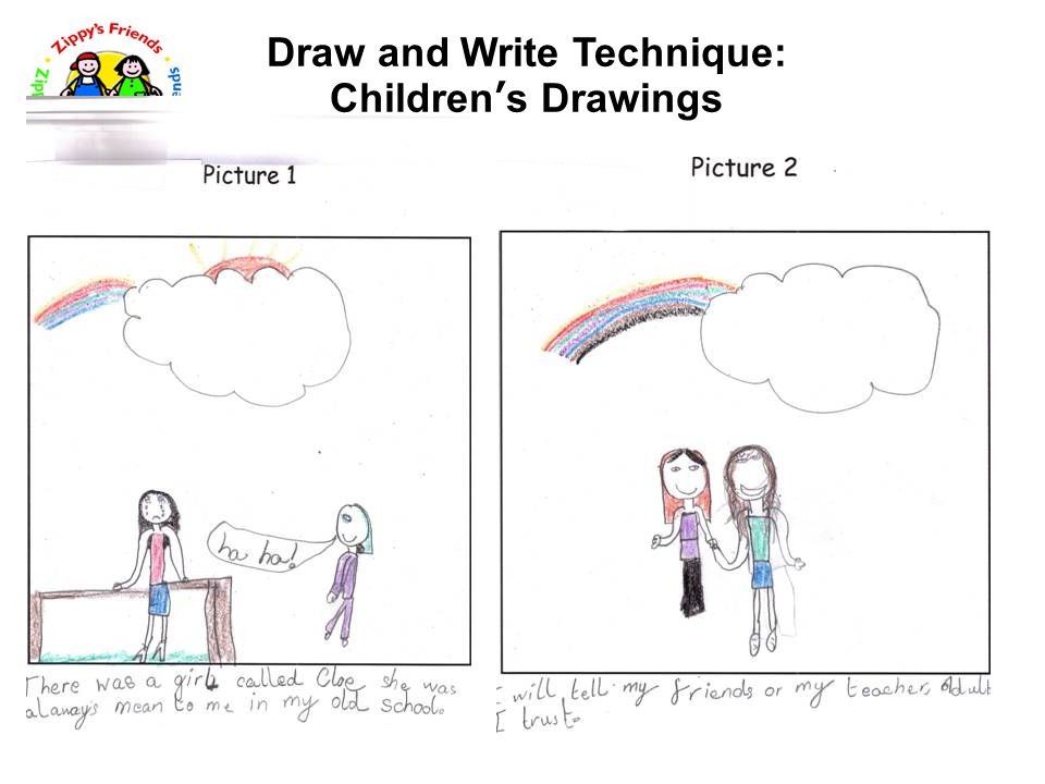 Draw and Write Technique: Children's Drawings